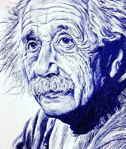 Albert Einstein, Retrato a boli BiC