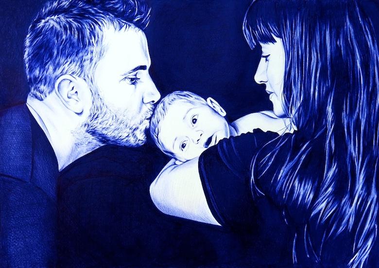 Carlos, Samanta y Luca, Retrato a Boli BiC