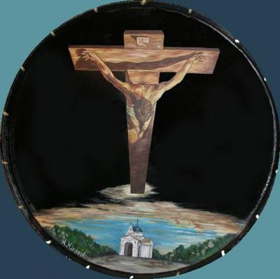 Cristo de Dalí sobre el Calvario