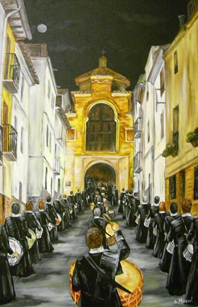 Semana Santa de Urrea de Gaén, procesión