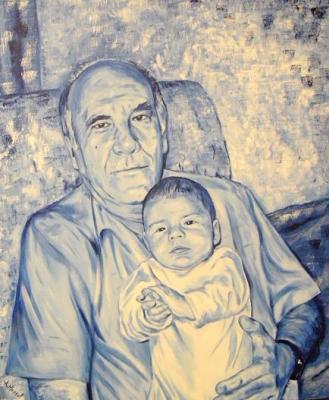 Abuelo con nieto (Retrato)