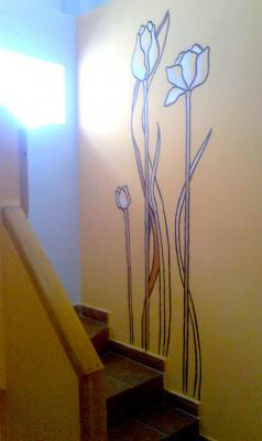 Decoracion pared (flores)