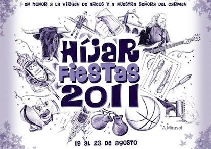 Cartel Fiestas de Híjar 2011