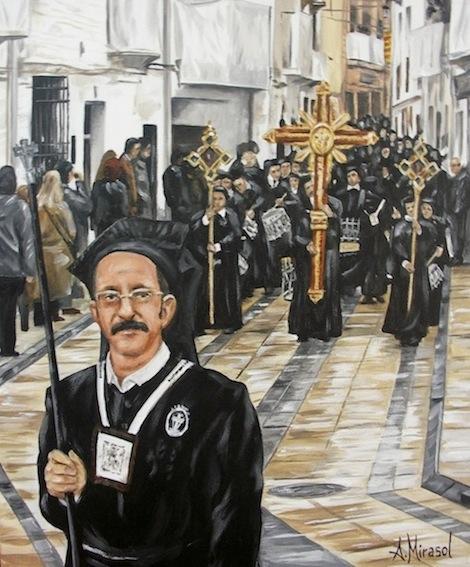 Procesión y ministro, Semana Santa de Híjar