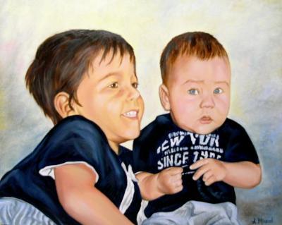 Retrato hermanos