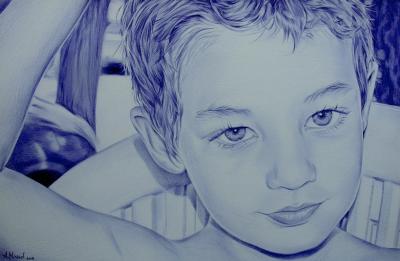 Niño, Retrato a boli BiC