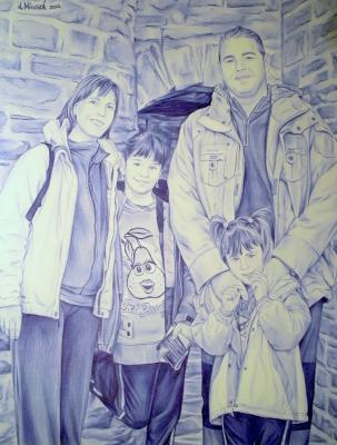 Familia, Retrato a boli BiC