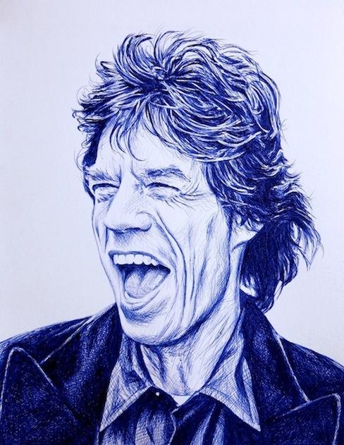Mick Jagger, Retrato a Boli BiC